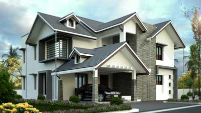 Square drive living space architects construction for The space scape architects thrissur kerala